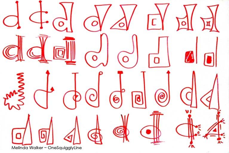 VisualThinking_Creative_Letter_Design_D_MelindaWalker_OneSquigglyLine