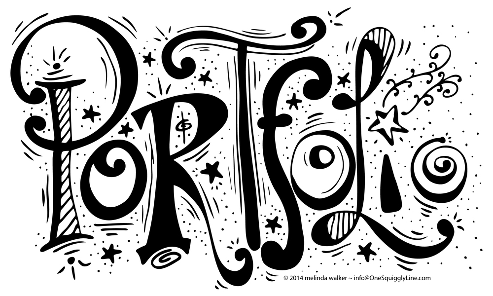 Portfolio: Lettering for One Squiggly Line website