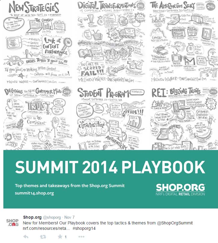 Shop.Org Playbook: Live Graphic Recordings on Cover