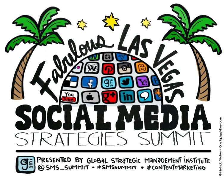 GraphicRecording_PreEventVisual_SocialMarketingStrategiesSummit_Vegas_MelindaWalker_OneSquigglyLine