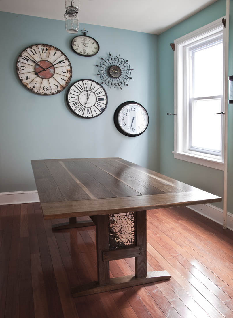 Rustic white oak kitchen table by valebruck.com