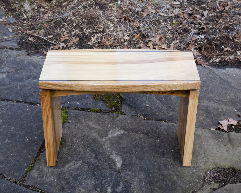 Elm, oak & maple coffee table by valebruck.com