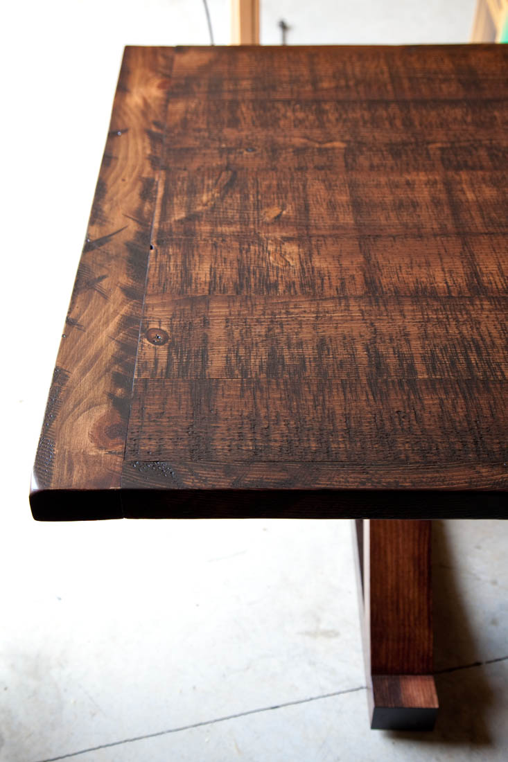 Rough Sawn Barnwood Kitchen Table Vale Lorin Bruck Design