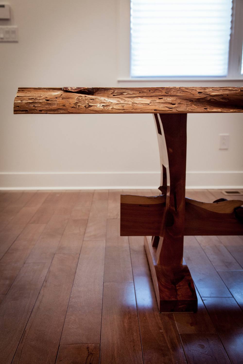 Live edge cedar slab table by valebruck.com