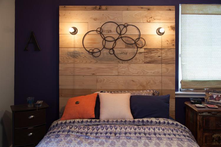 Custom reclaimed wood headboard by valebruck.com - Reclaimed Wood Headboard -