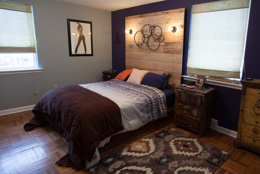 Custom reclaimed wood headboard by valebruck.com