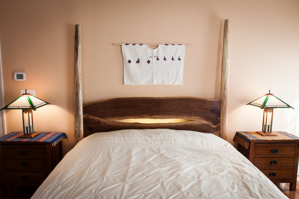 Custom walnut headboard by valebruck.com