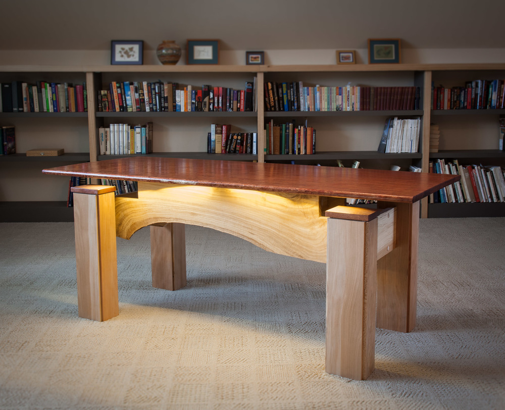 Bubinga office desk by valebruck.com
