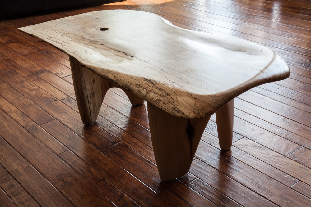 "Spalted Maple ""driftwood"" coffee table by valebruck.com"