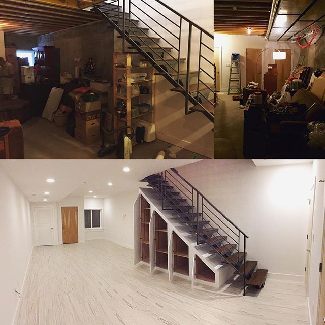 Fishtown basement remodel. Before and after shots are the best.