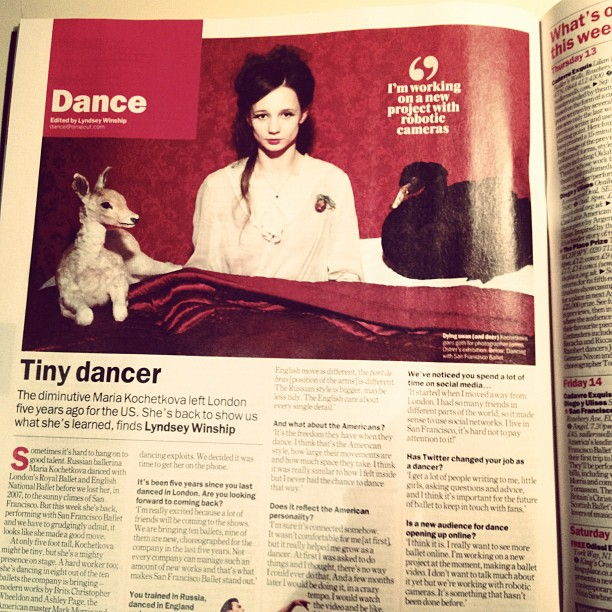 Time Out London interview with me about San Francisco Ballet's London Tour