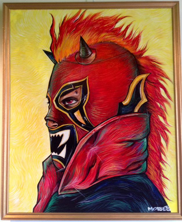 Portrait of Lucha Libre Mexican Wrestling