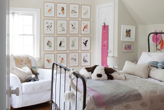 "Kid's Room with Pink Accents"" Via CountryLiving.com"