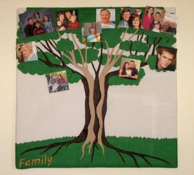 Family Tree Pin Board