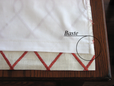 Baste Inner and Outer Fabric Together