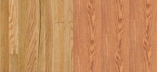 Hardwood (left), Laminate (right) from Armstrong.com