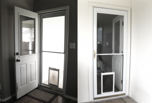 Inside of Door (left), Outside of Door (right)