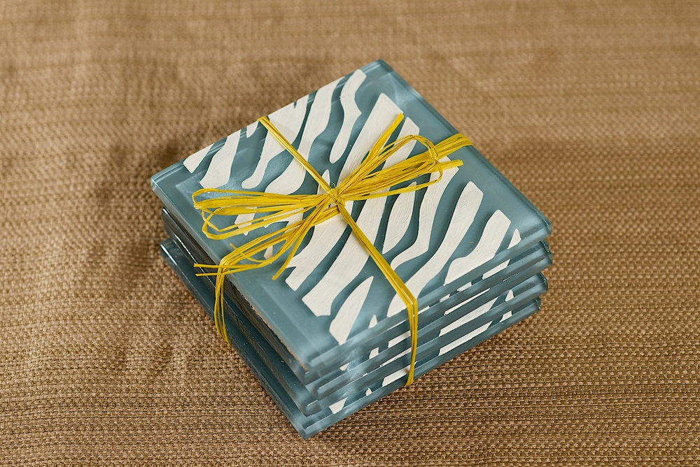 Zebra Tile Coasters