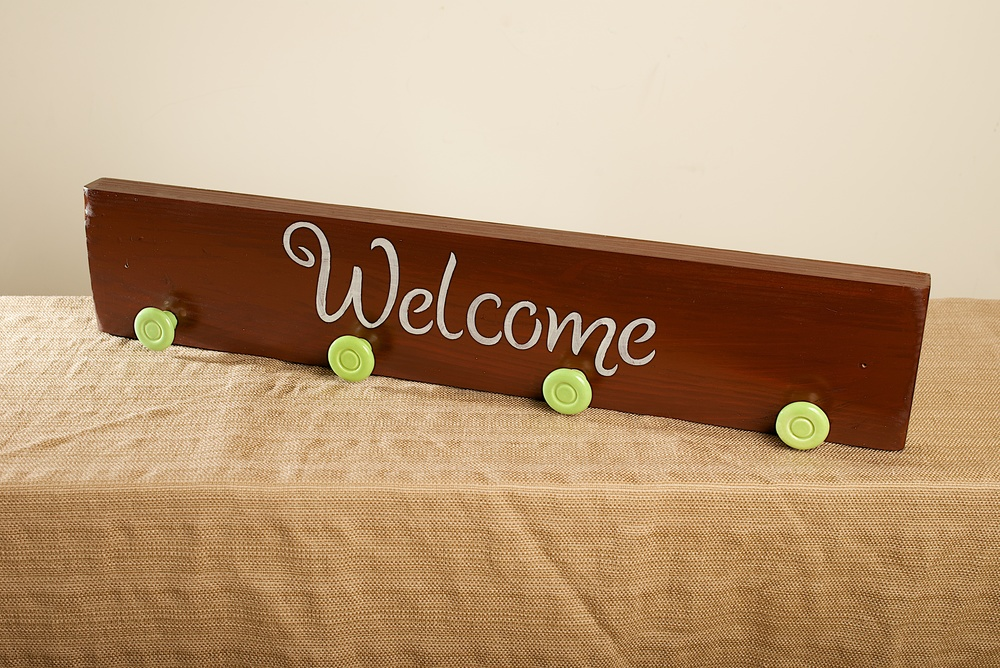 Green Wall Coat Rack