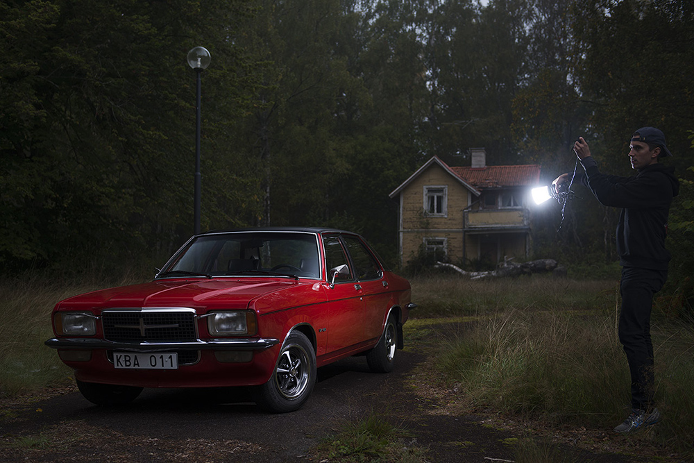 Photo shoot in Södermanland, Sweden. Adding some light to a rare  Vauxhall VX490 , originally sold new in Sweden and kept in a stunning condition.