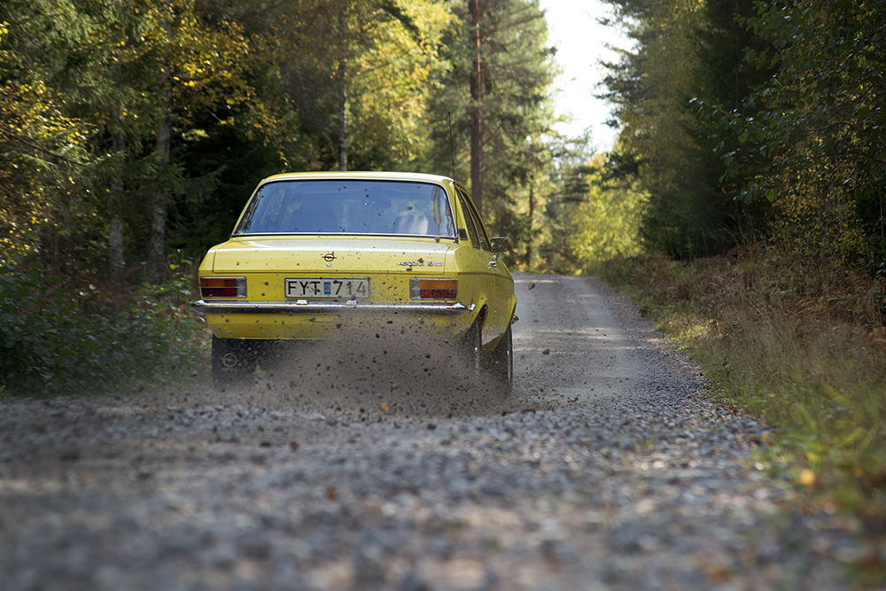 Spent the day in the forests – met up with the owner to this beautiful Opel Ascona SR19  for a full photo session. An impressively authentic candidate of a series of Opels who mostly died along some rally stage decades ago. Good flashbacks from the 70's when Opel was 'hot stuff' and built some of the greatest cars for rally enthusiasts. Kind of different from the brand status of today. And yes, I just want to go back to some of those pretty gravel roads and continue going sideways…