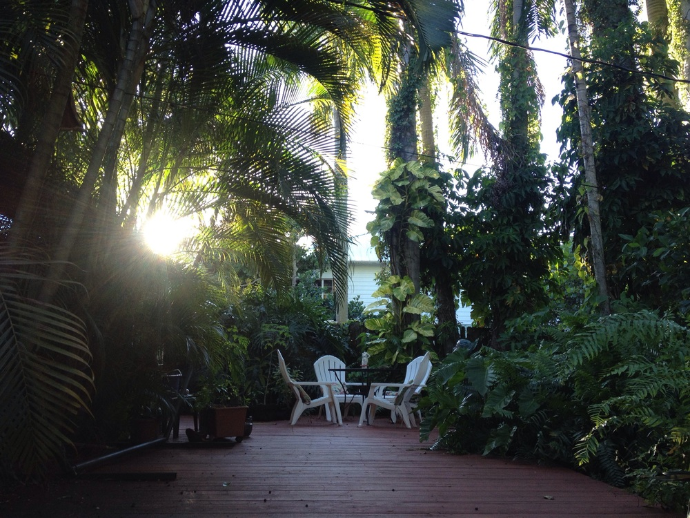 The 'patio'.