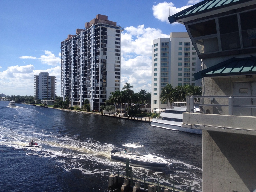 There are multiple bridges in Ft Lauderdale.