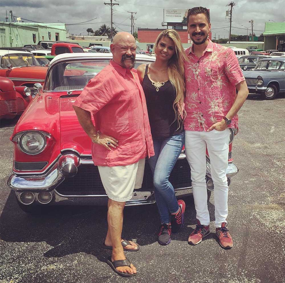 I stopped by and said hi to motoring icon Ted Vernon – an iconic auto dealer north of Miami specialized in classic and fine automobiles. And the girl? Hmm, welcome to Miami!