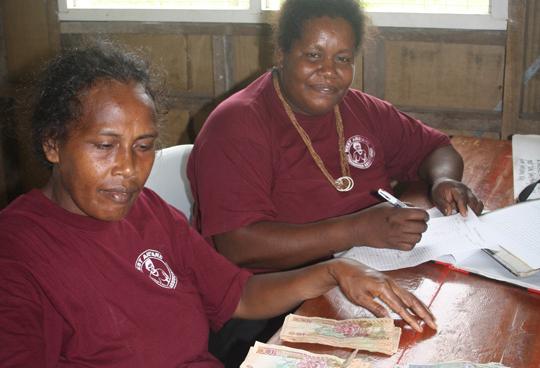 Women from WARA process finances