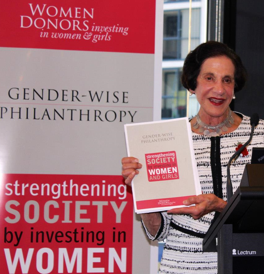 FORMER NSW GOVERNOR MARIE BASHIR AT THE Gender-wise PHILANTHROPY GUIDE Launch