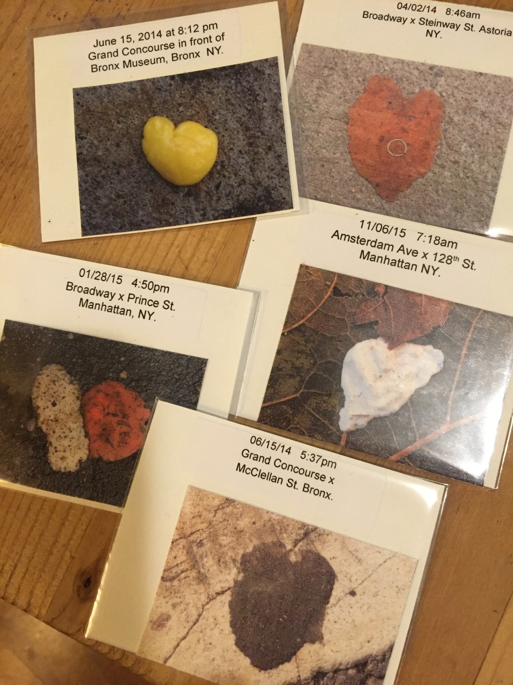"Individually packaged GumHeart temporary tattoo stickers are about 2"" x 2.5"". Each comes with original date, time, location that I have documented."
