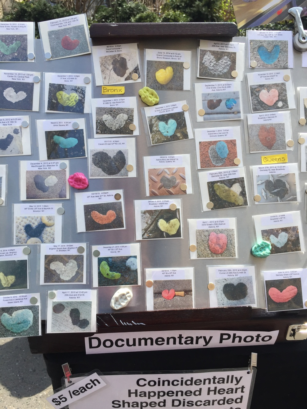 Finding that tourists from Europe are more curious about my GumHearts project.