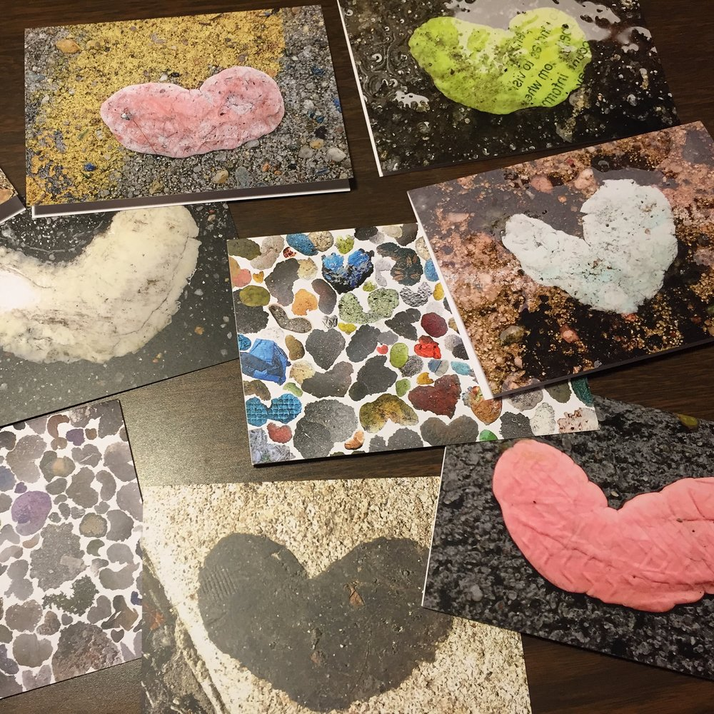 GumHearts Greeting Cards