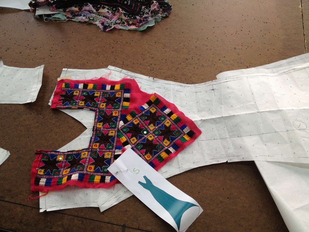 We had to make sure each applique fit to the garment pattern.
