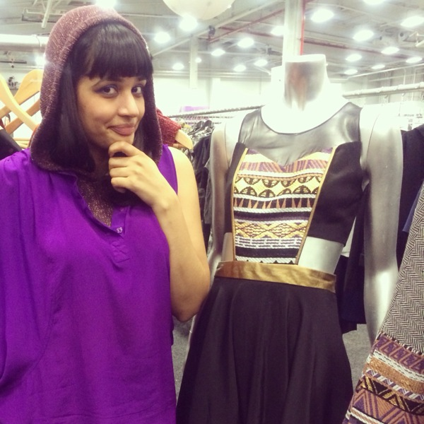 Violet Open Shirtdress and Aubergine Hoodie Vest, next to the Adeline Combo Dress