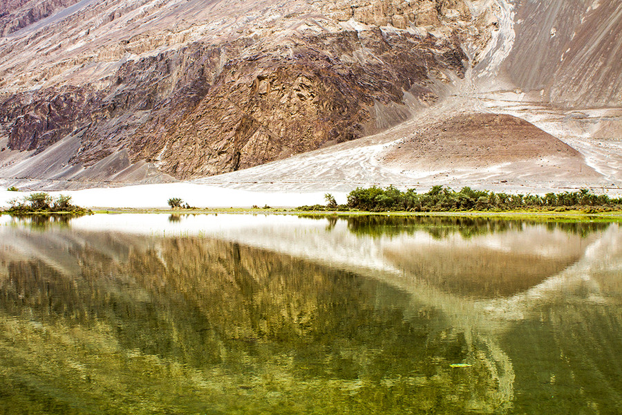 stephanocardona :     Reflections at Nubra valley… by aamoghs