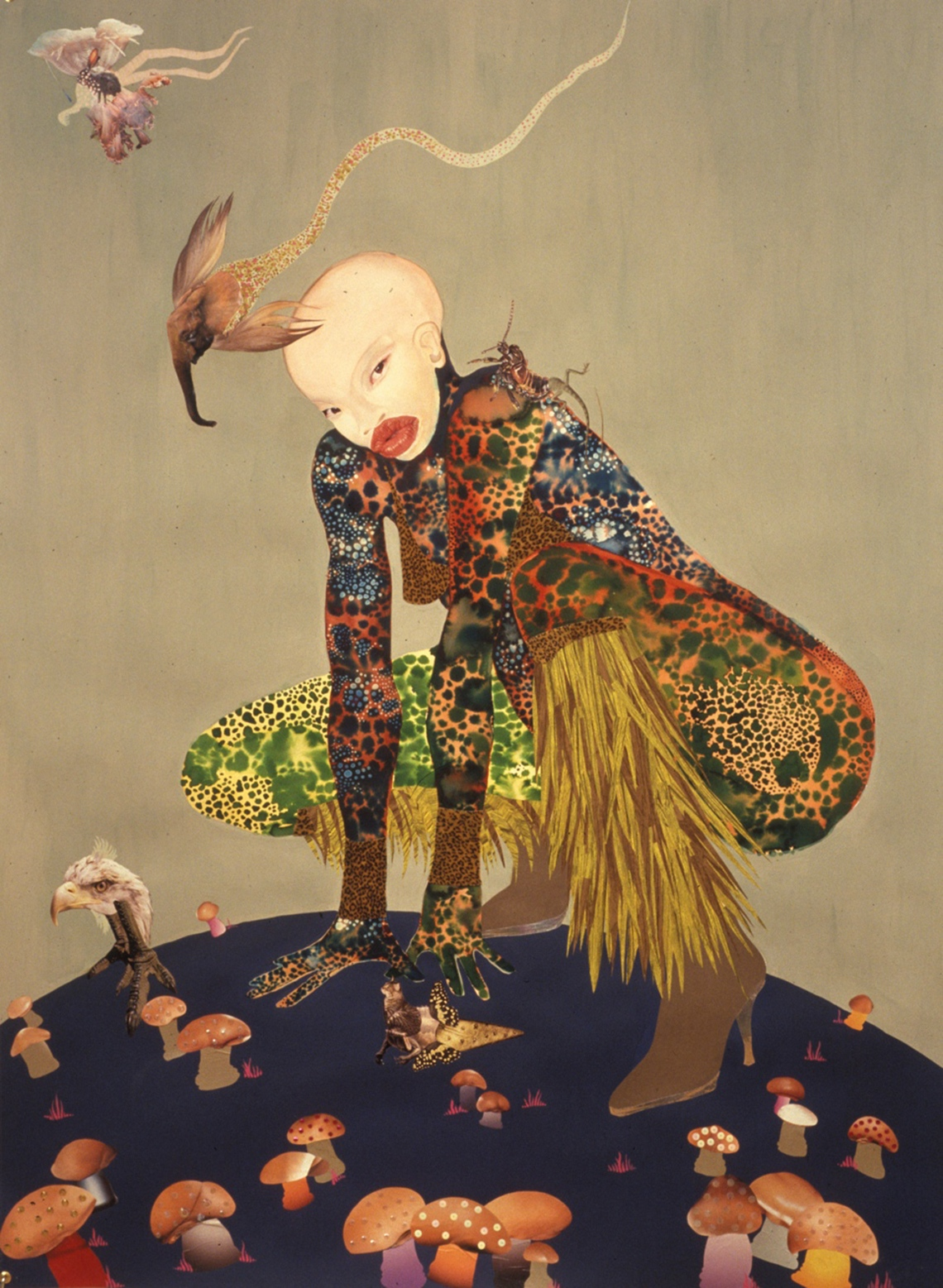 cavetocanvas: Wangechi Mutu, Riding Death in My Sleep, 2002