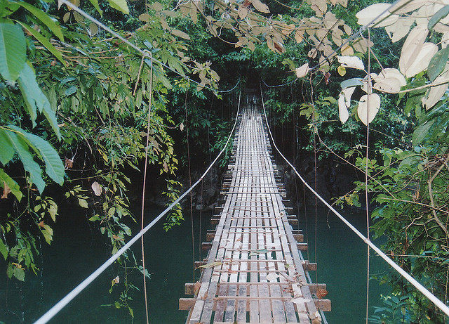 brutalgeneration: jungle suspension bridge, costa rica by ex_magician on Flickr.