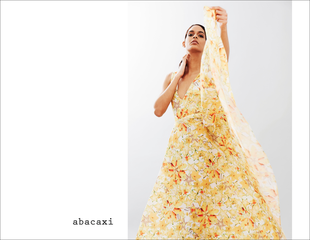 abacaxi Starburst' cotton full-circle dress ver4.jpg
