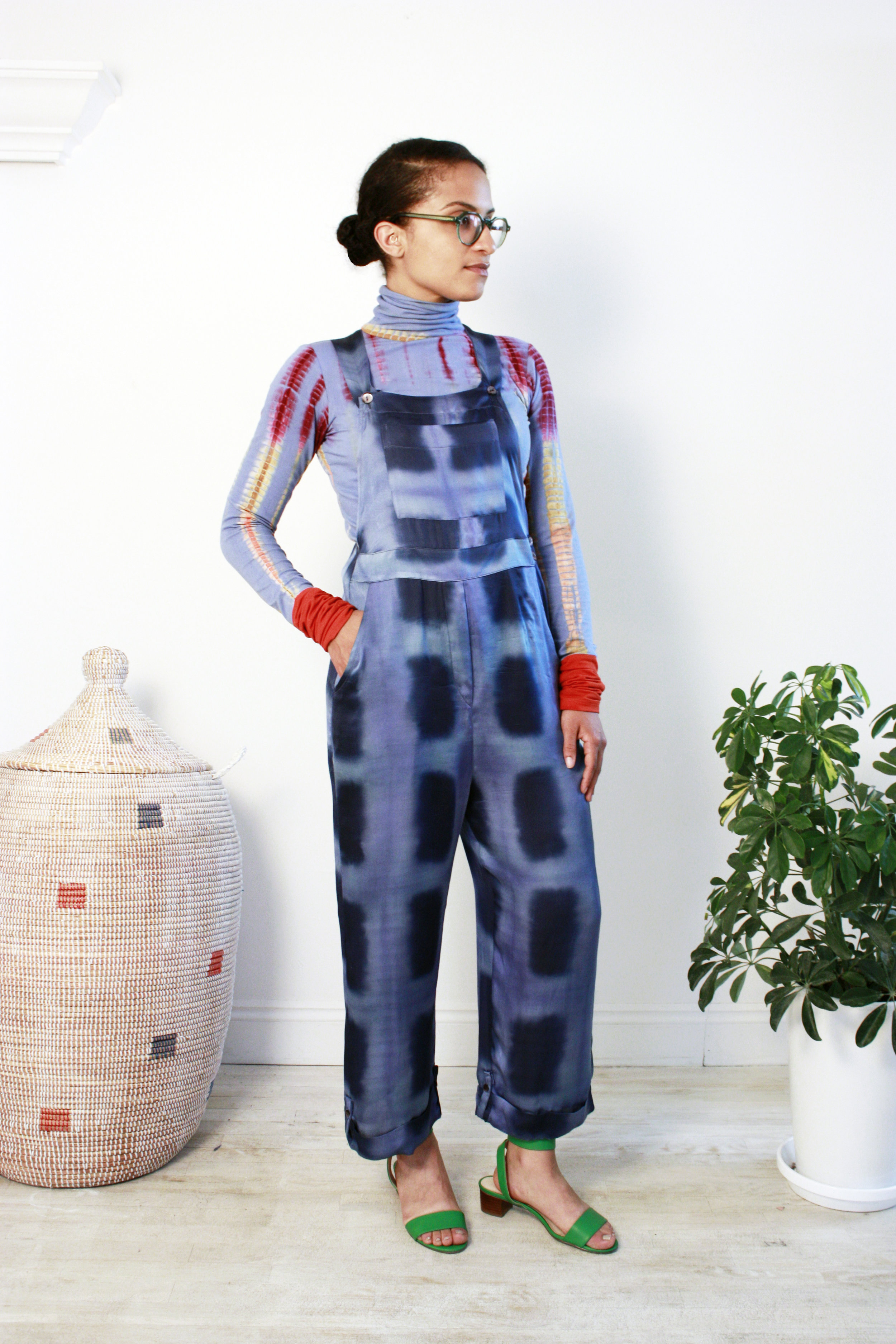 abacaxi tie-dye jumpsuit and turtleneck
