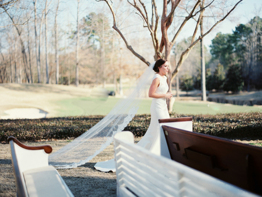 Pews at a Southern Wedding. Photo by Taylor Lord