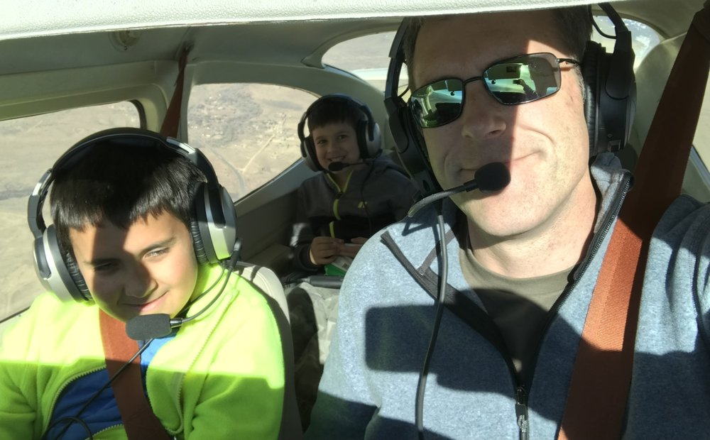 What a perfect morning flying in a Cessna with my sons Nik and Jayan!