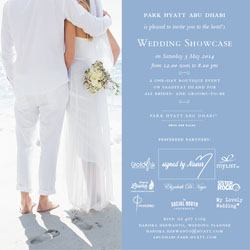 2014 Park Hyatt Abu Dhabi Wedding Showcase in Abu Dhabi UAE