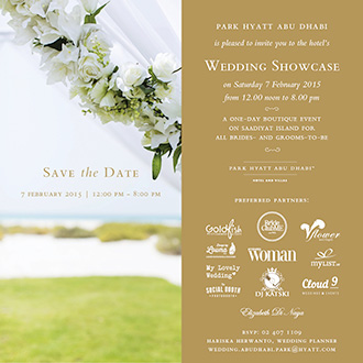 2015 Abu Dhabi Park Hyatt Wedding Showcase on Saadiyat Island - UAE