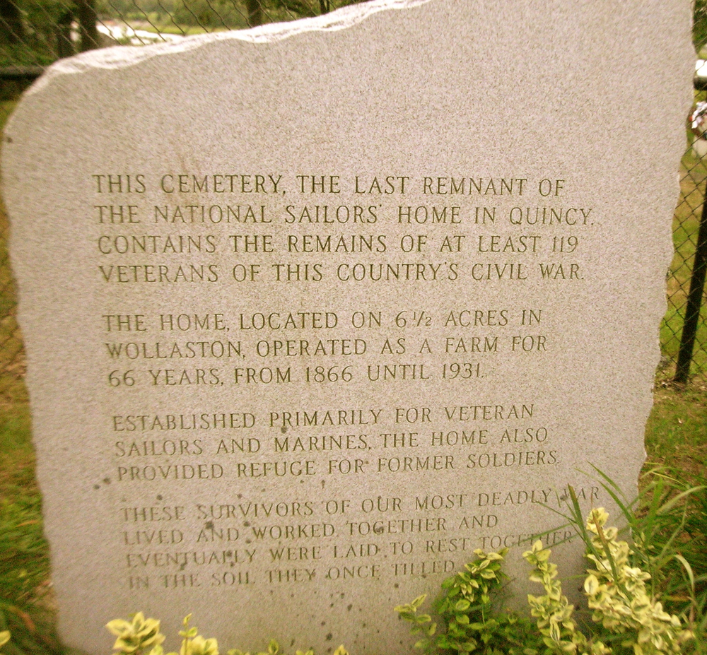Sailors' Home Cemetery Sign