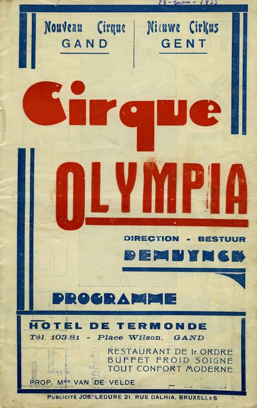 Circus Olympia, Gent, 1935 -  link