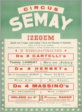Circus Semay in Izegem, 1952
