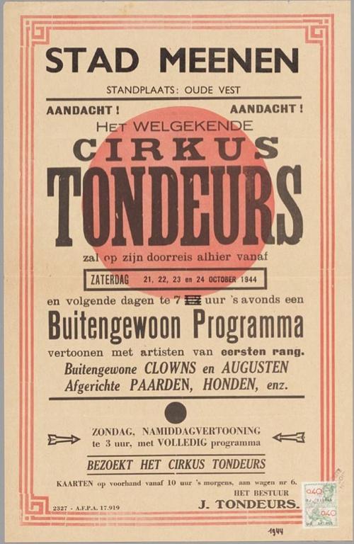 Circus Tondeurs, 1944
