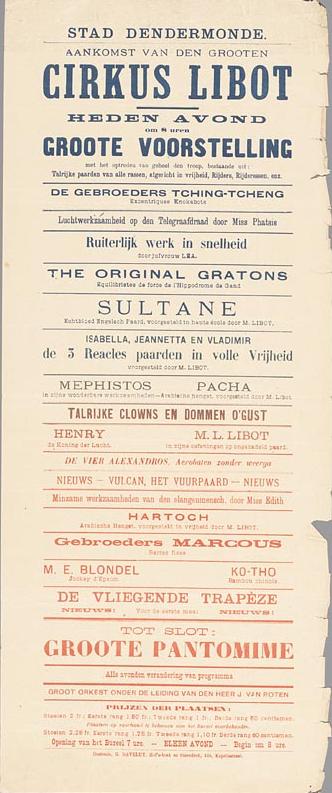 Circus Libot in Dendermonde, 1902