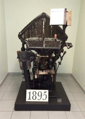 Typograph linecasting machine invented by John Raphael Rogers (US). The MIAT collection, Gent, Belgium